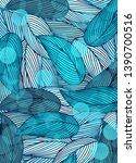 background wallpaper leaf blue... | Shutterstock .eps vector #1390700516