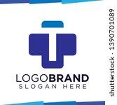 t initial letter cross medical...   Shutterstock .eps vector #1390701089