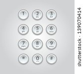 user interface  keypad for phone | Shutterstock .eps vector #139070414