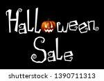 halloween sale   typography ... | Shutterstock . vector #1390711313