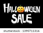 halloween sale   typography ... | Shutterstock . vector #1390711316