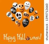 happy halloween banner  poster... | Shutterstock . vector #1390712660
