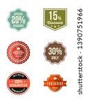 vintage retro exclusive brand... | Shutterstock .eps vector #1390751966