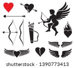 set of cupid icons   valentines ... | Shutterstock . vector #1390773413