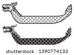 dragon boat festival vector... | Shutterstock .eps vector #1390774133