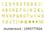 full set of latin abc alphabet... | Shutterstock . vector #1390777826