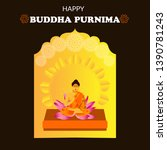 illustration of buddha purnima... | Shutterstock .eps vector #1390781243