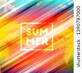 summer night party flyer.... | Shutterstock .eps vector #1390787000