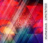 summer night party flyer.... | Shutterstock .eps vector #1390787003