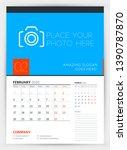 wall calendar planner template... | Shutterstock .eps vector #1390787870