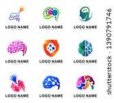 creative brain logo design... | Shutterstock .eps vector #1390791746