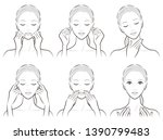 illustration of a woman doing... | Shutterstock .eps vector #1390799483
