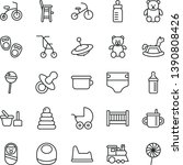 thin line vector icon set  ...   Shutterstock .eps vector #1390808426