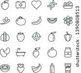 thin line vector icon set  ... | Shutterstock .eps vector #1390808513