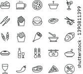 thin line vector icon set  ... | Shutterstock .eps vector #1390811399