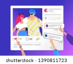 social media photo rating and... | Shutterstock .eps vector #1390811723