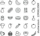 thin line vector icon set  ... | Shutterstock .eps vector #1390813589