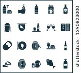 alcohol icons set with brewery  ... | Shutterstock .eps vector #1390823000