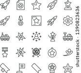 thin line vector icon set   add ... | Shutterstock .eps vector #1390823636