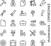 thin line vector icon set  ... | Shutterstock .eps vector #1390825463