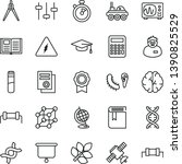 thin line vector icon set  ... | Shutterstock .eps vector #1390825529