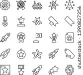 thin line vector icon set   add ... | Shutterstock .eps vector #1390827356