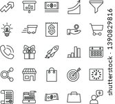 thin line vector icon set  ... | Shutterstock .eps vector #1390829816