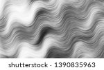black and white wavy striped... | Shutterstock . vector #1390835963