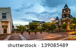 panoramic view of town square... | Shutterstock . vector #139085489