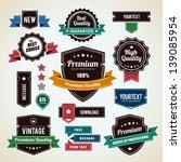 set of vintage badges. vintage... | Shutterstock .eps vector #139085954