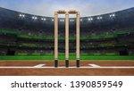 grand cricket stadium with... | Shutterstock . vector #1390859549