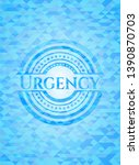 urgency realistic sky blue... | Shutterstock .eps vector #1390870703