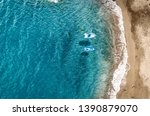 aerial view of summer beach... | Shutterstock . vector #1390879070