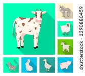 vector design of breeding and... | Shutterstock .eps vector #1390880459