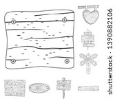 vector design of hardwood and... | Shutterstock .eps vector #1390882106
