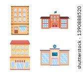 vector design of facade and... | Shutterstock .eps vector #1390888520