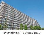 modern japanese residential... | Shutterstock . vector #1390891010