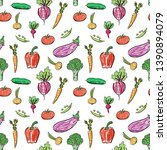 vegetable vector. organic... | Shutterstock .eps vector #1390894079