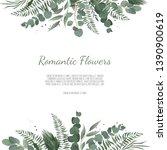 floral design card. greeting ... | Shutterstock . vector #1390900619