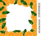 vector wallpaper with oranges...   Shutterstock .eps vector #1390900823