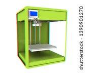 3d printer. modern technologies....   Shutterstock . vector #1390901270