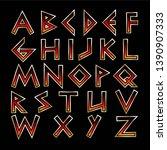 vector letters for the design...   Shutterstock .eps vector #1390907333