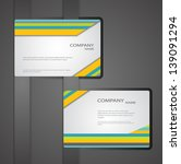 corporate business cards | Shutterstock .eps vector #139091294