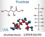fructose  d fructose molecule.... | Shutterstock .eps vector #1390918190