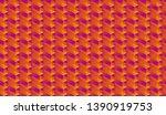 isometric seamless pattern ... | Shutterstock .eps vector #1390919753