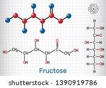 fructose  d fructose molecule.... | Shutterstock .eps vector #1390919786