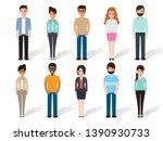 group of working people...   Shutterstock .eps vector #1390930733