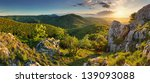 mountain forest panorama at...   Shutterstock . vector #139093088