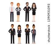 group of working people... | Shutterstock .eps vector #1390931093