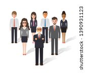 group of working people... | Shutterstock .eps vector #1390931123